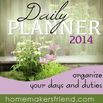 Homemaker's Friend Planner Giveaway