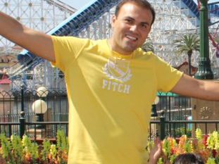 Saeed Abedini is seen with his family.