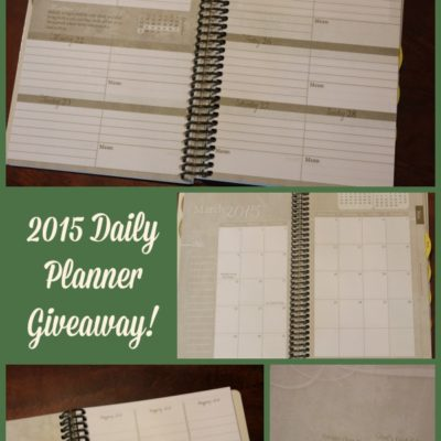 Homemaker's 2015 Daily Planner Giveaway