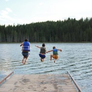 Swimming At Dawson Lake  {This Land of Ours}