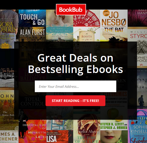 BookBub:  Kindle Deals