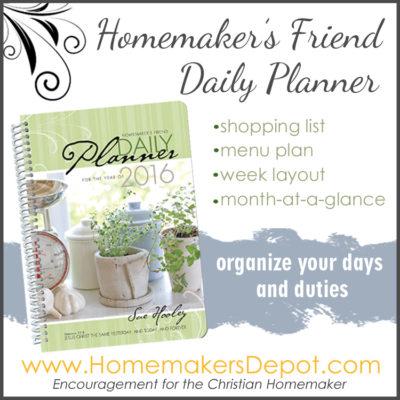 2016 Homemaker's Planner