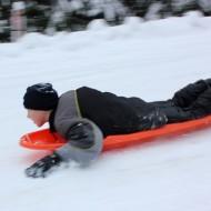 Sledding on Christmas Day