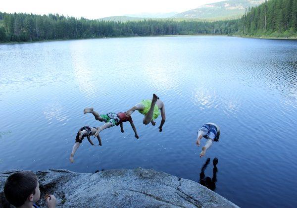 Mountain Lake Swimming