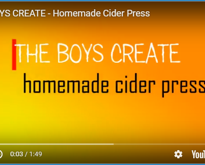 Boys Homemade Cider Press