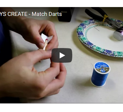 The Boys Create Homemade Match Darts {video}